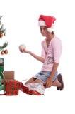 δώρο Χριστουγέννων λανθασμένο Στοκ Φωτογραφία