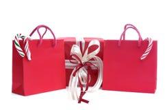 δώρο Χριστουγέννων τσαντών Στοκ φωτογραφία με δικαίωμα ελεύθερης χρήσης