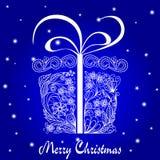 δώρο Χριστουγέννων doodle Στοκ Εικόνες