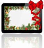Δώρο Χριστουγέννων PC ταμπλετών Στοκ εικόνα με δικαίωμα ελεύθερης χρήσης