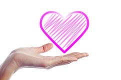 δώστε την καρδιά χεριών Στοκ φωτογραφία με δικαίωμα ελεύθερης χρήσης