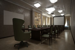 Δώστε της αίθουσας ενημερώσεων Στοκ Φωτογραφίες