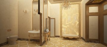 Δώστε της τουαλέτας πολυτέλειας Στοκ φωτογραφίες με δικαίωμα ελεύθερης χρήσης