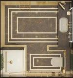 Δώστε της τουαλέτας πολυτέλειας Στοκ Εικόνες