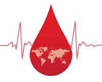 Δώστε το αίμα στον κόσμο Στοκ Φωτογραφίες