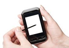 δώστε το κινητό τηλέφωνό το&upsi Στοκ εικόνα με δικαίωμα ελεύθερης χρήσης