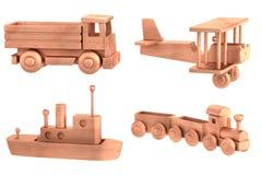 Δώστε των ξύλινων παιχνιδιών διανυσματική απεικόνιση