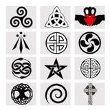 Δώδεκα κελτικά σύμβολα Στοκ Εικόνες