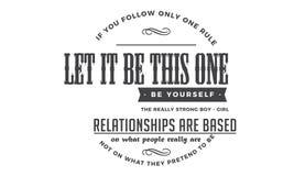 Εάν ακολουθείτε μόνο έναν κανόνα, τον αφήστε να είναι αυτός: Να είστε οι ίδιοι ελεύθερη απεικόνιση δικαιώματος