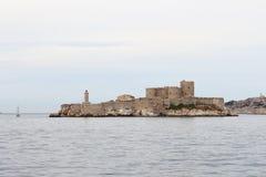 Εάν Castle επάνω στην πόλη βράχων frenche πλησίον της Μασσαλίας Στοκ εικόνες με δικαίωμα ελεύθερης χρήσης