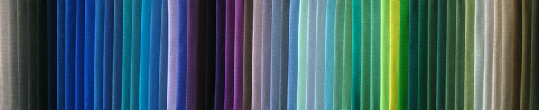δείγματα υφάσματος χρώματος Στοκ Εικόνες