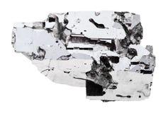 Δείγμα Galena της πέτρας που απομονώνεται Στοκ Εικόνες