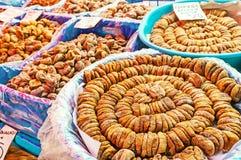 Είδη ξηρών σύκων στην αγορά Antalya Στοκ εικόνα με δικαίωμα ελεύθερης χρήσης