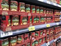 Είδη προϊόντων σούπας της Heinz στοκ εικόνες με δικαίωμα ελεύθερης χρήσης