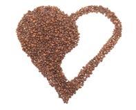 είδος καρδιών καφέ yang yin Στοκ Φωτογραφία