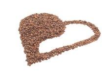 είδος καρδιών καφέ yang yin Στοκ φωτογραφία με δικαίωμα ελεύθερης χρήσης