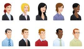 Είδωλα επιχειρηματιών - απεικόνιση Στοκ εικόνα με δικαίωμα ελεύθερης χρήσης