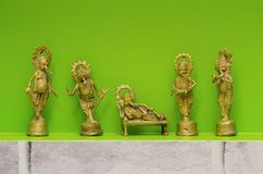 Είδωλα μετάλλων του Λόρδου Ganesha, επίσης γνωστά ως Ganapati ή Vinayaka Στοκ Εικόνες