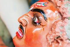 Είδωλο αργίλου Asura, ο δαίμονας, Kumartuli, Kolkata, δυτική Βεγγάλη, Ινδία Στοκ φωτογραφία με δικαίωμα ελεύθερης χρήσης