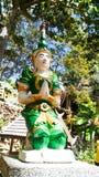Είδωλο πράσινο της παραμονής της Ταϊλάνδης στο φραγμό στοκ φωτογραφία