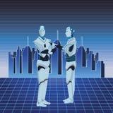 Είδωλο ρομπότ Humanoid διανυσματική απεικόνιση