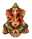Είδωλο Ganesha που απομονώνεται στο λευκό με το ψαλίδισμα της μάσκας στοκ εικόνες με δικαίωμα ελεύθερης χρήσης