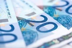 Είκοσι ευρο- τραπεζογραμμάτια Στοκ Εικόνες