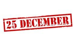 Είκοσι πέντε Δεκέμβριος ελεύθερη απεικόνιση δικαιώματος