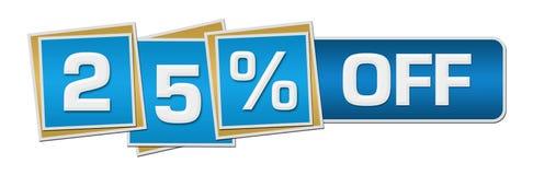 Είκοσι πέντε τοις εκατό έκπτωσης από τον μπλε φραγμό τετραγώνων Στοκ φωτογραφία με δικαίωμα ελεύθερης χρήσης