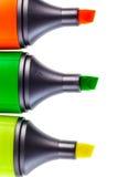 δείκτες τρία χρώματος Στοκ Φωτογραφίες