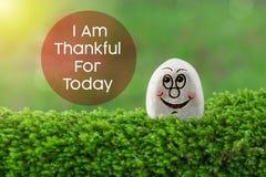 Είμαι ευγνώμων για σήμερα στοκ φωτογραφία