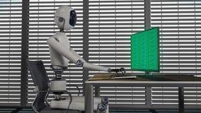 Είμαστε τα ρομπότ, ρομπότ που λειτουργούν σε ένα γραφείο Στοκ φωτογραφία με δικαίωμα ελεύθερης χρήσης