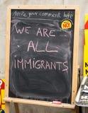 Είμαστε όλοι οι μετανάστες Στοκ φωτογραφία με δικαίωμα ελεύθερης χρήσης