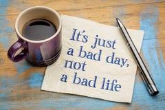Είναι ακριβώς μια κακή ημέρα, όχι στοκ εικόνα