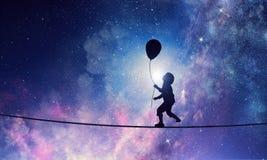 Είναι γλυκό όνειρο νύχτας Μικτά μέσα Στοκ Εικόνες