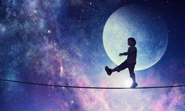 Είναι γλυκό όνειρο νύχτας Μικτά μέσα Στοκ Φωτογραφίες