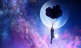 Είναι γλυκό όνειρο νύχτας Μικτά μέσα Στοκ εικόνα με δικαίωμα ελεύθερης χρήσης