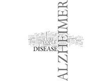 Είναι εκεί μια θεραπεία για την έννοια σύννεφων του Word υποβάθρου κειμένων του Alzheimer S Στοκ εικόνα με δικαίωμα ελεύθερης χρήσης