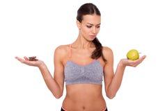 Είναι μια εύκολη επιλογή υγιής πάντα κερδίζει! Στοκ φωτογραφία με δικαίωμα ελεύθερης χρήσης