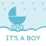 Είναι μια πρόσκληση ντους μωρών αγοριών Στοκ εικόνες με δικαίωμα ελεύθερης χρήσης