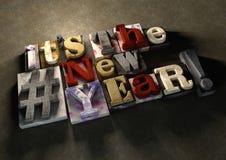 Είναι το νέο έτος! Ένας τίτλος που γιορτάζει το 2016 στο ξύλινο μελάνι splatt Στοκ φωτογραφίες με δικαίωμα ελεύθερης χρήσης