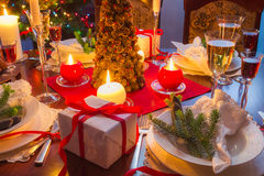 Είναι χρόνος για το γεύμα Χριστουγέννων Στοκ Εικόνες