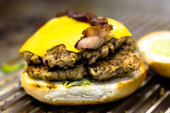 Είναι Burger χρόνος Στοκ φωτογραφίες με δικαίωμα ελεύθερης χρήσης