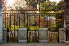 είσοδος Εθνικοί βοτανικοί κήποι Δουβλίνο Ιρλανδία στοκ φωτογραφία
