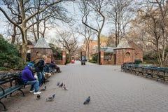 Είσοδος ζωολογικών κήπων του Central Park - Νέα Υόρκη, Νέα Υόρκη Στοκ Εικόνα