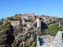 Είσοδος μοναστηριών, Meteora, Ελλάδα Στοκ φωτογραφία με δικαίωμα ελεύθερης χρήσης