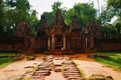 Είσοδος ναών Srei Banteay, Angkor, Καμπότζη στοκ φωτογραφίες με δικαίωμα ελεύθερης χρήσης