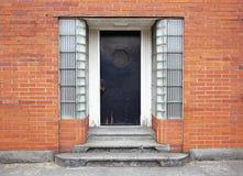 είσοδος πορτών οικοδόμη&s Στοκ Εικόνα