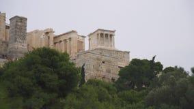 Είσοδος στην αθηναϊκή ακρόπολη απόθεμα βίντεο