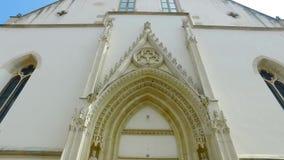 Είσοδος στην εκκλησία απόθεμα βίντεο